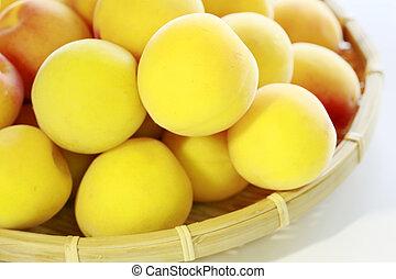 frutas, maduro, ume