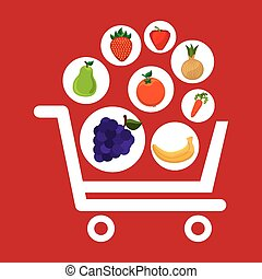 frutas, shopping