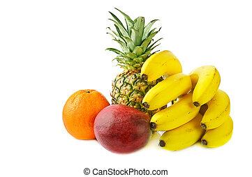 frutas, tropicais, fresco