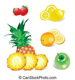 frutas, (vector)