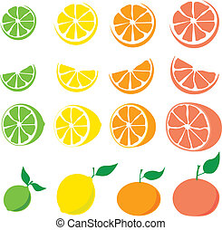 frutta agrume, set
