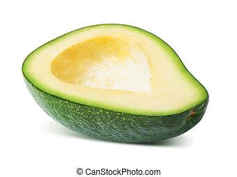 frutta, avocado, isolato, mezzo