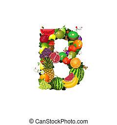 frutta, b, succoso, lettera