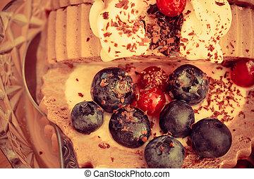 frutta, bacca, gelato