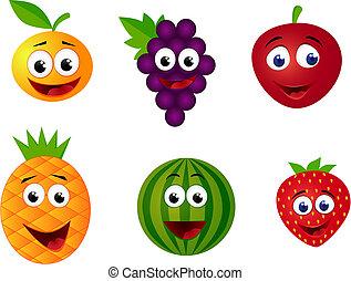frutta, cartone animato