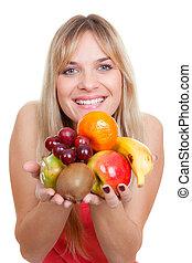 frutta, donna, dieta