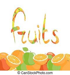 frutta, etichetta