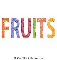 frutta fresca, illustrazione