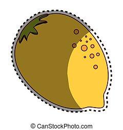frutta fresca, limone, icona