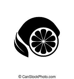 frutta, limone, icona