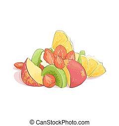 frutta mista, insalata