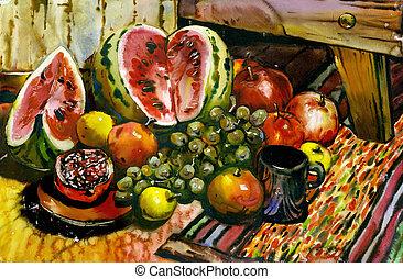 frutta, natura morta