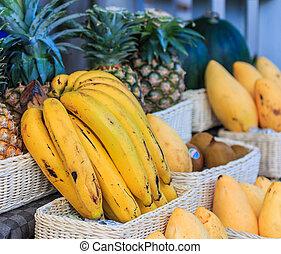frutta, negozio