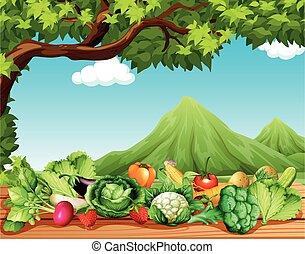frutta verdure, tavola