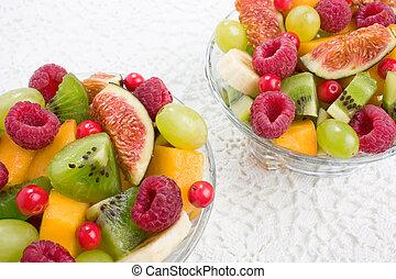 frutte, bacche, insalata