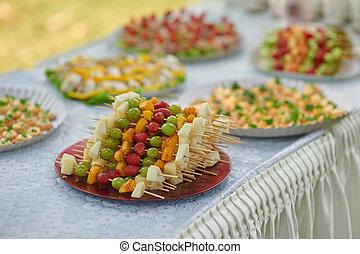 frutte,  buffet, matrimonio