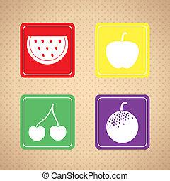 frutte, icone