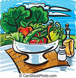 frutte, verdura, olio oliva