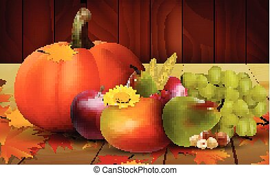 frutte, verdure fresche, uva