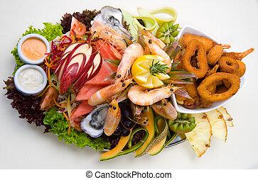 frutti mare, piatto da portata