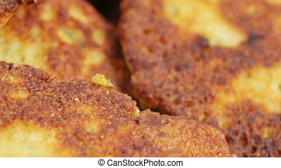 Fry cutlet from caviar