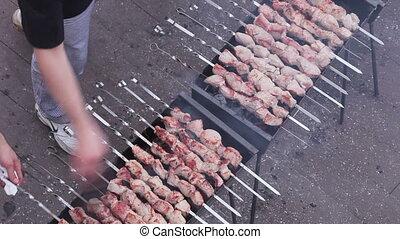Fry meat