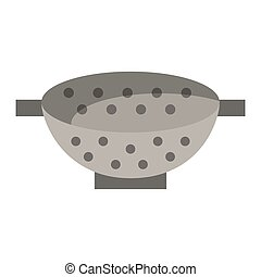 Fryer bowl kitchen utensil vector illustration graphic...