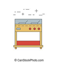 Fryer outline vector icon. Restaurant equipment.