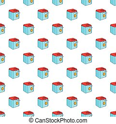 Fryer pattern, cartoon style - Fryer pattern. Cartoon...