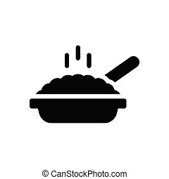 frying  glyph flat icon
