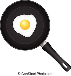 Frying pan egg