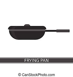 Frying Pan Icon - Vector illustration of frying pan isolated...