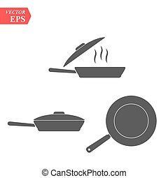 Frying pan icon. Vector concept illustration for design. eps 10