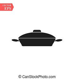 Frying pan icon. Vector concept illustration for design.