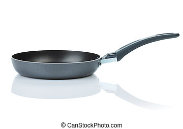 Frying pan. Isolated on white background