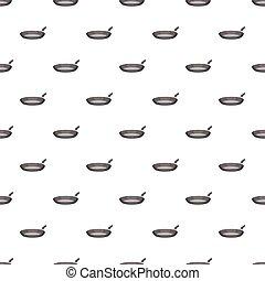 Frying pan pattern, cartoon style
