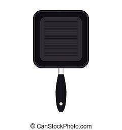 Frying pan vector illustration isolated on white background