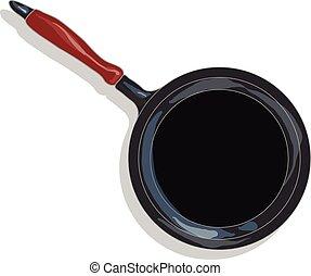 Frying pan, vector