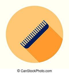 fryzjer, zamocowywanie, poznaczcie., symbol., włosy, wektor, icon., grzebień