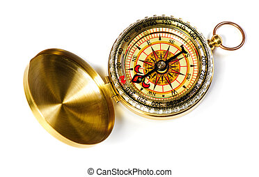 fshioned, magnétique, vieux, compas