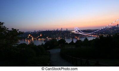 FSM Bridge 2 - blue time Fatih Sultan Mehmet Bridge at...