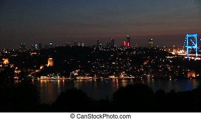 FSM Bridge 4 - blue time Fatih Sultan Mehmet Bridge at...