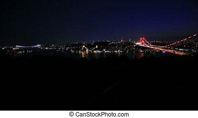 FSM Bridge 7 - blue time Fatih Sultan Mehmet Bridge at...
