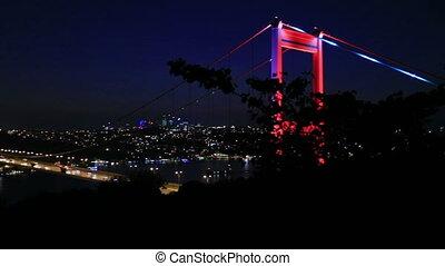 FSM Bridge 8 - blue time Fatih Sultan Mehmet Bridge at...