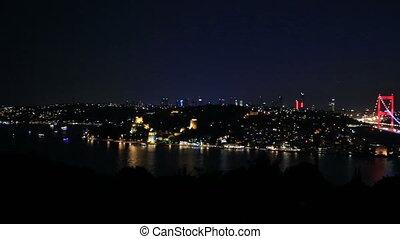FSM Bridge 9 - blue time Fatih Sultan Mehmet Bridge at...