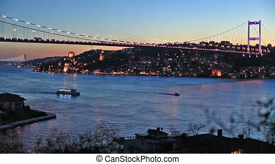 FSM Bridge - Fatih Sultan Mehmet Bridge at istanbul turkey