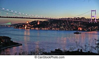 FSM Bridge - Fatih Sultan Mehmet Bridge at istanbul turkey