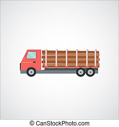 Ftat Truck Vector Illustration