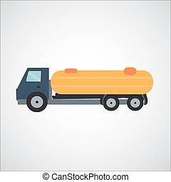 ftat, vecteur, camion, illustration