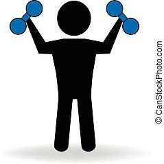 Ftness figure people logo
